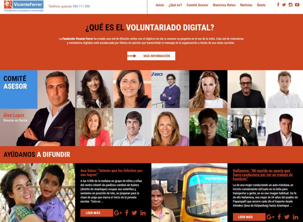 Portal voluntariado FVF