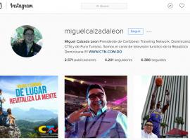 """Miguel Calzada, el """"análogo"""" que se convirtió en la autoridad digital del sector turístico de RD."""