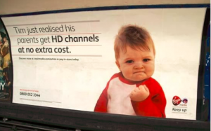 Virgin Media con el meme Success kid